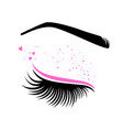 pink makeup for valentines day vector image