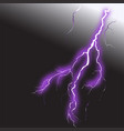 realistic lightning 2 vector image