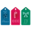 Christmas icon and text tags vector image
