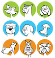 Dog Characters Set vector image