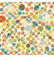 Abstract Retro Geometric circles pattern vector image vector image