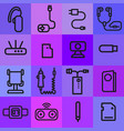 accessories icons for mobile phone vector image vector image