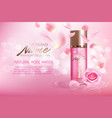 advertising poster for cosmetic product with rose
