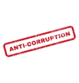 Anti-Corruption Text Rubber Stamp vector image vector image