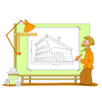 architect plan vector image vector image