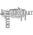 baccarat crystal text word cloud concept vector image vector image