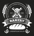 bakery house or shop label design with bread vector image vector image
