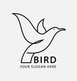 bird luxury and minimalist logo template vector image vector image