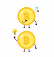 bitcoin coin with question mark and lightbulb vector image vector image