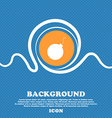 bomb icon sign Blue and white abstract background vector image