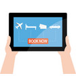book holidays online vector image