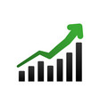 business growing statistics vector image vector image