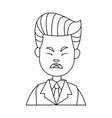 businessman character sad people problem vector image