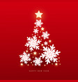 christmas and happy new year background with vector image