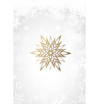 christmas light background with white snowflakes vector image vector image