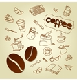 Coffee break menu doodles background vector image vector image
