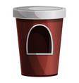 coffee kiosk icon cartoon style vector image