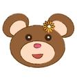 cute bear icon vector image