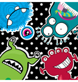 cute little funny monsters vector image vector image