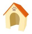 Dog house icon cartoon style vector image