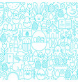 easter line seamless white pattern vector image