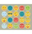 Emoticons flat design set Emoticon for web site vector image