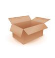 empty cardboard box vector image