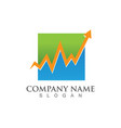 finance logo and symbols concept vector image