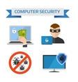Flat design concepts for Internet Security Mobile vector image vector image