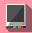 flat design photo frame icon vector image