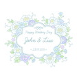floral wedding label vector image vector image