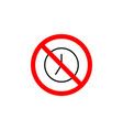 forbidden clock late icon on white background can vector image vector image