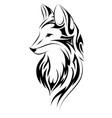 fox tattoo simple design vector image vector image