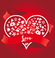 gift on valentines day heart vector image vector image
