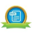 Gold doc logo vector image