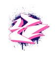 graffiti alphabet letter x against a background vector image