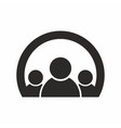 group people icon vector image vector image