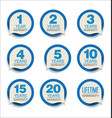 guarantee stickers blue design collection vector image vector image
