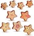 Hand-drawn Christmas honey sweets vector image vector image