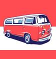 hippie car art vector image
