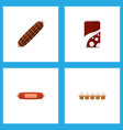 icon flat food set of soda bratwurst egg and vector image