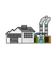 industry manufactory building producing oil and vector image