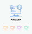 internet layout page site static 5 color line web vector image