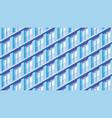isometric building facade vector image vector image