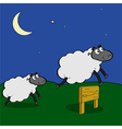 Jumping sheep vector image