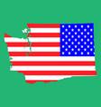 map flag us state washington on vector image vector image