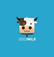 milk logo template vector image vector image