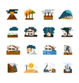 Natural Disaster Flat Icons Set vector image vector image