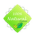 organic food farm fresh and natural product vector image