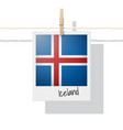 photo of iceland flag vector image